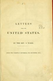 Cover of: Letters from the United States by Larry Freeman