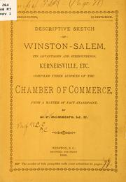 Cover of: Descriptive sketch of Winston-Salem | D. P. Robbins