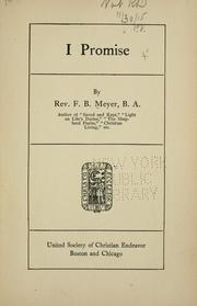 Cover of: I promise | Meyer, F. B.