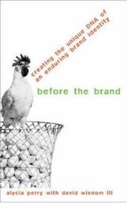 Cover of: Before the Brand | Alycia Perry
