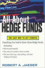 Cover of: All About Hedge Funds by Robert A. Jaeger
