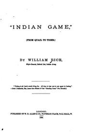 "Cover of: ""Indian game,"" 