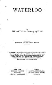 Cover of: Waterloo by Sir Arthur Conan Doyle