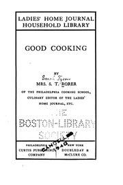 Cover of: Good cooking by Sarah Tyson Heston Rorer