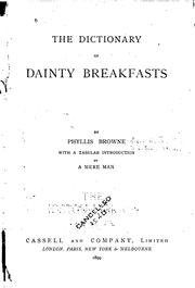 Cover of: The dictionary of dainty breakfasts by Phillis Browne
