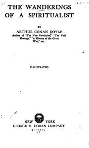 Cover of: The wanderings of a spiritualist | Sir Arthur Conan Doyle