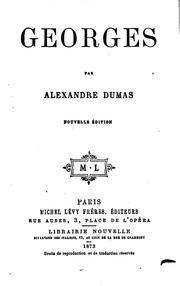 Cover of: Georges | Alexandre Dumas