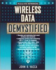 Cover of: Wireless Data Demystified | John Vacca