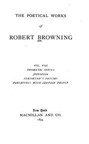 Cover of: Poems by Elizabeth Barrett Browning