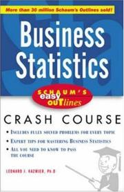 Cover of: Schaum's Easy Outline of Business Statistics by L. J. Kazmier