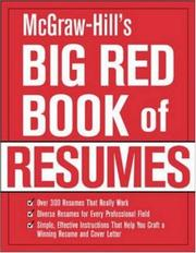 Cover of: McGraw-Hill's Big Red Book of Resumes | The Editors of VGM Career Books