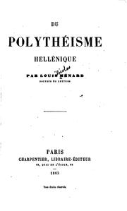 Cover of: Du polythéisme hellénique | Ménard, Louis