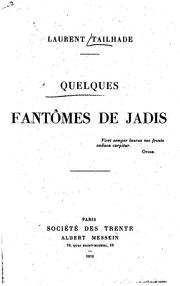 Cover of: Quelques fantômes de jadis by Laurent Tailhade