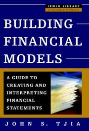 Cover of: Building Financial Models | John Tjia