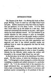 Cover of: A study of the paragraph | Helen Thomas