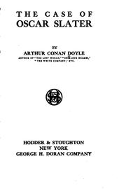 Cover of: The case of Oscar Slater by Sir Arthur Conan Doyle
