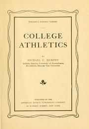 Cover of: College athletics | Murphy, Michael C.