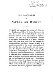 Cover of: The biography of Alfred de Musset | Paul Edme de Musset