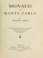 Cover of: Monaco and Monte Carlo | Adolphe Smith