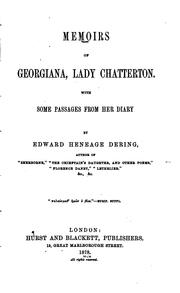 Cover of: Memoirs of Georgiana, lady Chatterton | Chatterton, Georgiana Lady