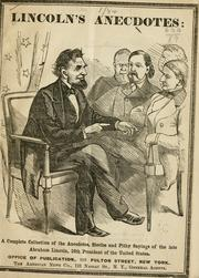 Cover of: Lincoln's anecdotes | Abraham Lincoln