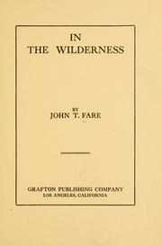 Cover of: In the wilderness | John Thomas Fare