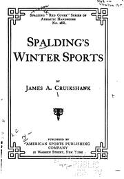 Cover of: Spalding's winter sports | James A. Cruikshank