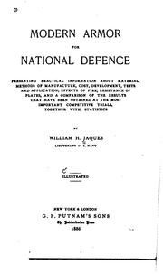 Cover of: Modern armor for national defence | William H. Jaques