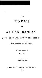 Cover of: Poems | Allan Ramsay