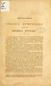 Cover of: Reflections on Colonel Humphreys' life of General Putnam | Fellows, John, John Fellows