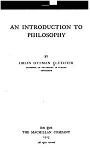 Cover of: An introduction to philosophy by Orlin Ottman Fletcher