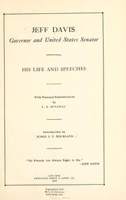 Cover of: Jeff Davis, governor and United States senator by Davis, Jeff