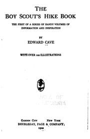 Cover of: The Boy scout's hike book by Cave, Edward