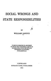 Cover of: Social wrongs and state responsibilities by William Jandus