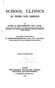 Cover of: School clinics at home and abroad | Lewis Davie Cruickshank