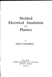 Cover of: Molded electrical insulation and plastics | Emile Hemming