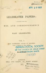Cover of: The Leadbeater papers | Mary Leadbeater