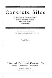 Cover of: Concrete silos by Universal Portland Cement Company., Universal Portland Cement Company