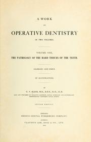 Cover of: A Work on operative dentistry | G. V. Black