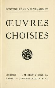 Cover of: Œuvres choisies by Fontenelle M. de