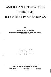 Cover of: American literature through illustrative readings | Simons, Sarah Emma