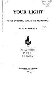 "Cover of: Your light ""the evening and the morning,"" 