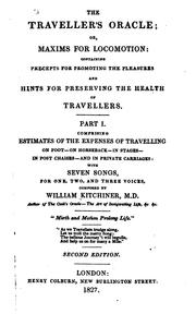 Cover of: The traveller's oracle | William Kitchiner
