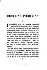 Cover of: Rich man, poor man | Foster, Maximilian