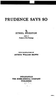 Cover of: Prudence Says So by Ethel Hueston