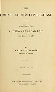 Cover of: The great locomotive chase by William Pittenger