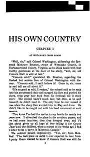 Cover of: His own country | Paul Kester
