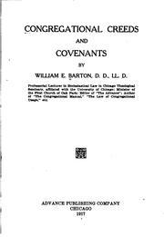 Cover of: Congregational creeds and covenants | William Eleazar Barton