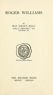Cover of: Roger Williams | May Emery Hall