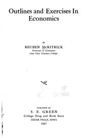 Cover of: Outlines and exercises in economics by Reuben McKitrick